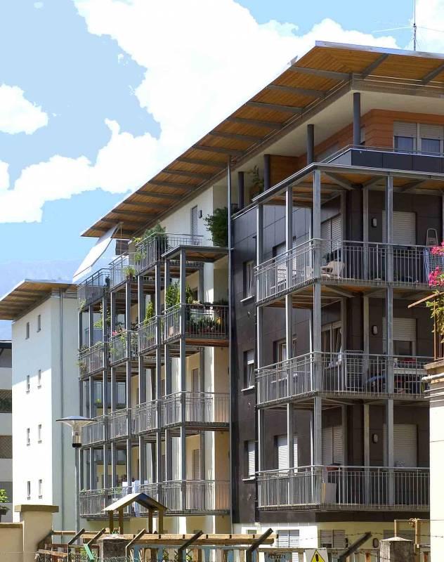 architecturb ro melle projekte klima haus 35 wohnungen in der erweiterungszone reschen 2. Black Bedroom Furniture Sets. Home Design Ideas
